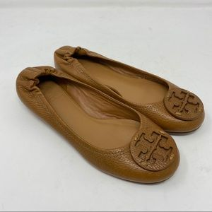 Tory Burch Shoes Reva Ballet Flats Tumbled Leather